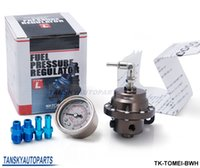 Wholesale Adjustable Regulator - TANSKY- Tomei Fuel Pressure Regulator with White gauge adjustable FPR Type L TK-TOMEI-BWH Have In Stock