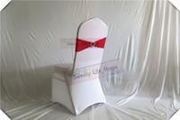 ingrosso fasce di fucsia-Decorazioni per matrimoni e per feste Larcy Chair Bands banquet Spandex Chair Sash Stretch fucsia Lycra chair bows with sillver Heart buckle