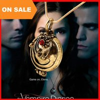Wholesale Vintage Vampire Diaries Jewelry - Vintage The Vampire Diaries Elena Necklaces Locket Box pendant Vampire Diaries Gilbert Verbena Necklaces movie statement jewelry 160361