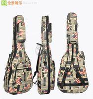 Wholesale Waterproof Gig Bag - Oxford cloth newspaper acoustic guitar bag 4041 inch folk backpack set of waterproof thickening Case bag