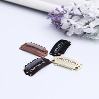 Wholesale Steel Snap Hair Clips - 2.8cm U-type clips hair extensions accessories manganese steel clips high quality durable snap clips for hair extension factory outlets