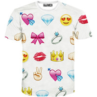 Wholesale Amy Love - w1209 [Amy] Hot sell top popular design 3d t shirt women Diamond Ring Love printing tees short sleeve casual t-shirt T1539-40 2color
