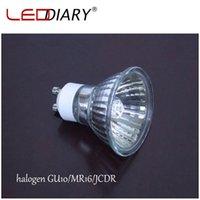 Wholesale Clear Quartz Lamp - Wholesale-10Pcs Lot Dimmable GU10 Halogen Spot Light 220V-230V 35W 50W Super Bright Halogen Bulbs Cup Shape Lamp Clear Quartz Glass