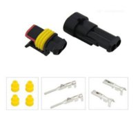 Wholesale hdmi pin - 10 Kits Sets New Car Part 2 Pin Way Waterproof Electrical Wire Auto Connector Plug Set Car Truck