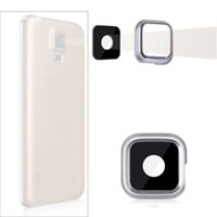Wholesale Camera Lens For S4 - 10pcs lot Rear Back Camera Glass Lens Cover Ring Adhesive For Samsung Galaxy S3 S4 S5 i9300 i9500 G900F