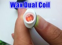 Wholesale Elips Clearomizer - Full Ceramic wax Dual coil atomizer heating coil clearomizer ceramic coil ceramic double coil for wax pen Elips Cloud Pen Free Shipping