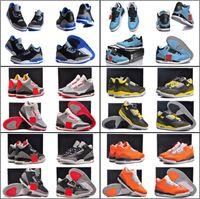 Wholesale Canvas Shoes Batman - 9 Colours ( With Box ) New Model High Quality Air Retro 3 III Sport Blue Powder Blue Batman Men's Basketball Sneakers Shoes