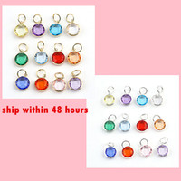 Wholesale 240pcs Mix Colors Birthstone Crystal dangles of Months Birthstone for Charm Wiring Bracelet expandable bangles