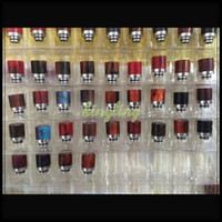 Wholesale E Cigarettes Mouth Pieces - 2015 Newest Epoxy Materials Ecigs Drip Tips Atomizers Tips Mouthpiece 510 Mouth Pieces Epoxy + Stainless E-cigarettes Tank Tip