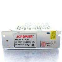 Wholesale 12v 3a 36w - 50pcs lot Switch Power Supply Driver 12V 3A 36W for LED Strip Light Free Fedex