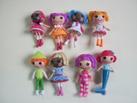 Wholesale Lalaloopsy Dolls Bulk Wholesale - 8pcs set MGA mini Lalaloopsy Doll the bulk button eyes toys gifts for girl classic toys children toys dolls PVC action figures 400pcs lot
