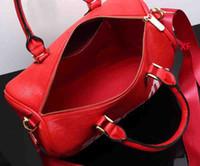 bolsa de moda longa alça venda por atacado-Moda feminina bolsa crossbody messenger bag tote sacos de senhora pura com alça longa e letras
