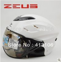 Wholesale Helmet Momo - Wholesale-Zeus helmet 125B MOMO White Twin Tone Motorcycle half helmet, free shipping, Top material Multifunctional motorbike helmet