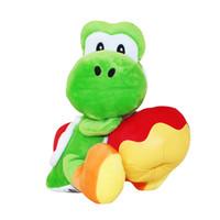 yoshi navidad de peluche al por mayor-Yoshi con juguetes de peluche rellenos de manzana Super mario yoshi muñeco de peluche de regalo de Navidad Envío gratis