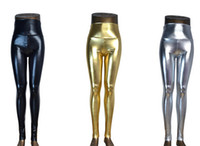 Wholesale Casual Leggings Looks - Plus Size High waist Shiny Wet Liquid Look PU Faux Leather Metallic Stretch Leggings Pants XS S M L XL