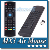 Wholesale Hand Trackball Mouse - S77 Pro MX3 2.4GHz Wireless Keyboard Fly Air Mouse Remote Control With Mic For MXQ M8S All Android TV BOX
