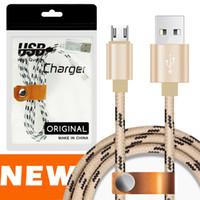 nexus kabel großhandel-1 Mt / 2 Mt / 3 Mt Micro USB TYP C Ladekabel Nylon Geflochtene High Speed USB Ladegerät KABEL 3.3ft 1 Mt für Android Samsung Nexus HUAWEI MIT BAGES
