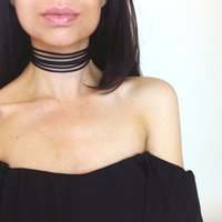 colar de renda da coreia venda por atacado-A decoração de flanela multicamadas Lace Collar Necklace Korea