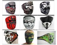 Wholesale Wholesale Neoprene Face Masks - 9 Styles Desinged Skull Face Mask Men Man Mens Neoprene Motorcycle Bike Cycling Party Face Mask Lightweight Stretch Winter Facemask Masks