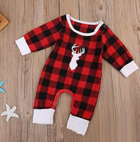 3fd3de4e5cfe New Baby Rompers Long Sleeve Cotton Infant Toddler Clothes Romper Climb  Clothing Jumpsuits Plaid Cute Deer Rompers Onesie Red