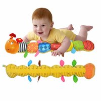 New Baby Toy Musical Caterpillar Rattle com Ring Bell Bonito Cartoon Animal Plush Doll Early Educational