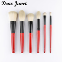 Wholesale red eyeshadow powder for sale - Group buy 6pcs Set Red Make Up Brushes Comestic Makeup Brush Set Powder Eyeshadow Brush Blusher Blending Brush Kits Wood Handle
