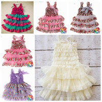 Wholesale Girls Petti Dresses - New arrival! 2016 Baby girls petti dress ivory princess dress lace & chiffon dresses ruffled baby girl petti dress 24pcs lot