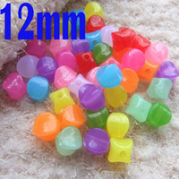 Wholesale Plastic Faceted Round Beads - 12mm 250pcs Lot Candy Acrylic plastic Round Faceted Beads Transparent for Chunky Necklace making in bulk beads b07