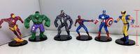Wholesale Super Heros Action Figures Set - 6pcs set Boy Gift The Avengers Action Figures Hulk Batman Thor Iron Man Spiderman Captain America Super Heros Toys