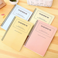 Creative Simple Color Argento Double Coil Ring Notebook a spirale A5 B5 Dot Blank Line grigliata Blocco note in carta