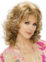 Wholesale Medium Length Blonde - Vogue women's Medium Brown mixed blonde lady's wigs