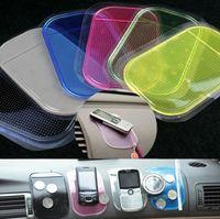 Wholesale Car Gel Cell Phone Mat - Anti Slip Mats Dashboard Silica Pad Silicon Gel Magic Colorful Powerful Silica Gel Magic Car for iphone 6S Samsung S7 S6 MP3 MP4 cell phone