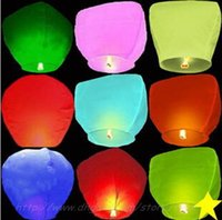 Wholesale Sky Balloon Free Shipping - free shipping Sky Lanterns,Wishing Lantern fire balloon Chinese Kongming lantern Wishing Lamp For Wedding Party Balloons & Lights