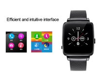 Wholesale Android Mp4 Support - 2016 Luxury Leather Business Smart Watch X6 Support SIM TF Card Bluetooth WAP GPRS SMS MP3 MP4 USB For iPhone And Android i watch 1pcs