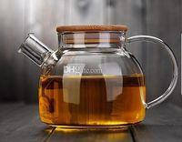 Wholesale Teapots Sets Wholesale - Fashion Hot 1000ml Heat-Resistan 1000ml Heat-Resistan Glass Teapot simple tea kettle tea-pot Convenient Office Tea Pot coffee pot