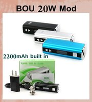 Wholesale Silver Wall Stick - electronic mod battery mod set kit Bou 20W Box Mod Stick 2200mAh Capacity Mechanical oled mod Vape Mod with eu us wall charger tz235