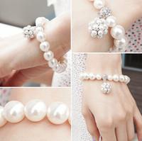 süßes perlenarmband großhandel-Heiße neue personalisierte Perle Ball Armband koreanische Dame süße Ornamente Schmuck Perlen Stränge Armbänder Perlen Armbänder