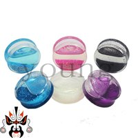 Wholesale acrylic saddle ear plugs stretcher expander piercing body jewelry stretchers