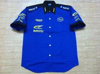 Wholesale Collared Racing Shirts - Embroidery LOGO F1 FIA NASCAR IndyCar V8 Supercar Racing Cotton Shirts for SUBARU World Rally Team Shirt,C069
