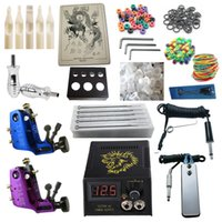 Wholesale Stigma Kit - Tattoo Kit 2 Stigma Hyper V3 Rotary Machine Guns Power Supply Needles Grips Tips Tattoo Kits RK2-6