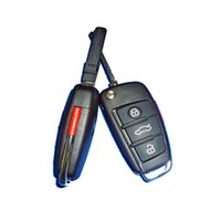 Wholesale gate door remote control - Carkitscenter 315mhz 433mhz pair duplicate remote control car key fob for Audicar A6L gate door remote key opener A339