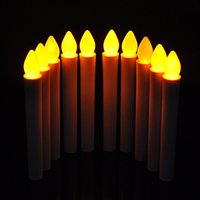 Wholesale Novelty Christmas Candles - LED Long Pole Candle Light Flashing Candles Light Table Lamp Novelty Candle Battery Operated LED Flickering Dinner Candle Christmas Gift