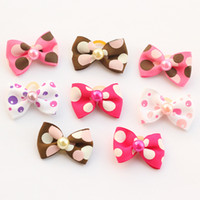 Wholesale Ribbon For Dogs Hair Wholesale - Armi store Handmade Lovely Color Balloons Pattern Ribbon Dog Bow Grooming Bows For Dogs 29003 Pet Hair Accessories Wholesale
