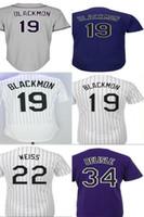 Wholesale Colorado Shorts - 2017 Mens Womens Kids Toddlers Colorado 19 Charlie Blackmon 22 Walt Weiss 34 Matt Belisle Purple Grey White Cool Flex Base Baseball Jerseys