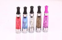 Wholesale New Crystal Atomizer - New CE4+ rainbow clearomizer colorful crystal drip tip rebuildable atomizer electronic cigarette cartomizer for CE4 CE5 different colors