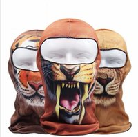 Vente en gros-LumiParty Thin 3D animaux en plein air vélo Ski Balaclava Neck Hood masque complet
