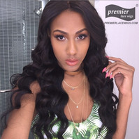 Wholesale Sexy Front Lace Wig - Premierwigs Sexy Wave Brazilian Virgin Full Head Human Hair Wigs Lace Front Wigs For Black Women On Sale