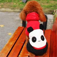 Wholesale Panda Dog Clothes - Pet Clothes Pet Dog Pet supplies Happy Panda Tetrapod Autumn and Winter Coral Fleece clothes Free Shipping