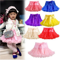 Wholesale Tutu Kind - Colorful Tulle Flower Girl Dresses Tutu Skirt For Toddlers Kinds Formal Wear Handmade Puffy Mini Shirt High Quality Factory Wholesale