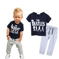 beatles toptan satış-Moda Mektup bebek giysileri serin beatles Butik Giyim yürüyor giyim erkek kız eşofman kıyafet 10 takımgrup